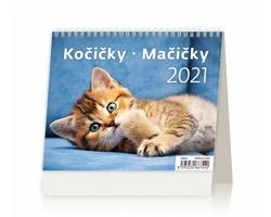 Stolní kalendář Kočičky/Mačičky 2021 - MiniMax