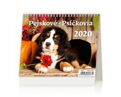 Stolní kalendář Pejskové / Psíčkovia 2020 - MiniMax