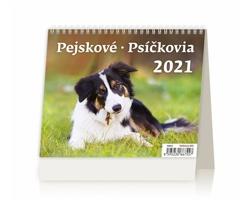 Stolní kalendář Pejskové/Psíčkovia 2021 - MiniMax