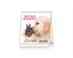 Stolní kalendář Pets 2020 - Mini