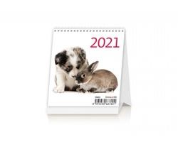 Stolní kalendář Pets 2021 - Mini
