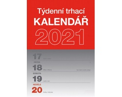 Stolní kalendář Týdenní trhací A5 2021