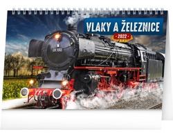 Stolní kalendář Vlaky a železnice 2022