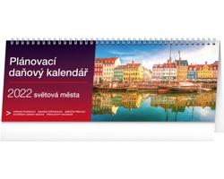 Stolní kalendář Plánovací daňový - Světová města 2022