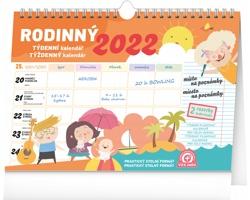 Stolní kalendář Týdenní rodinný plánovací s háčkem 2022