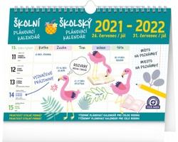 Stolní kalendář Školní plánovací s háčkem 2022