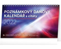 Stolní kalendář Poznámkový daňový s citáty 2022