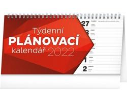 Stolní kalendář Plánovací řádkový 2022