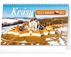 Stolní kalendář Krásy Čech a Moravy 2022
