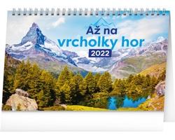 Stolní kalendář Až na vrcholky hor 2022