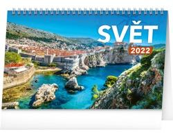 Stolní kalendář Svět 2022