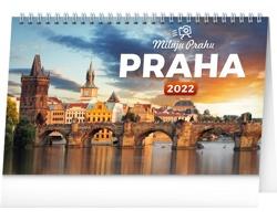 Stolní kalendář Praha - Miluju Prahu 2022