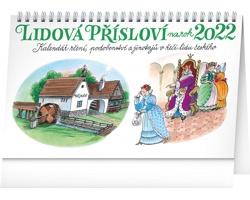 Stolní kalendář Lidová přísloví II. na rok - Kamila Skopová 2022