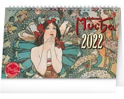 Stolní kalendář Alfons Mucha 2022 - 23,1x14,5 cm