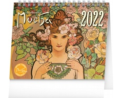 Stolní kalendář Alfons Mucha 2022 - 16,5x13 cm