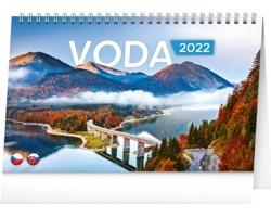 Stolní kalendář Voda 2022 - česko-slovenský