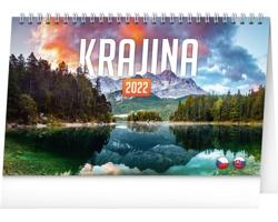 Stolní kalendář Krajina 2022 - česko-slovenský