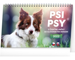 Stolní kalendář Psi - Psy 2022 - česko-slovenský