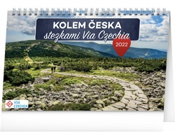 Stolní kalendář Kolem Česka stezkami Via Czechia 2022
