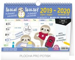 Stolní kalendář Školní plánovací s háčkem 2020