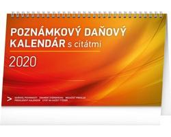 Stolní kalendář Poznámkový daňový s citáty 2020 - slovenský