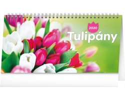 Stolní kalendář Tulipány řádkový 2020