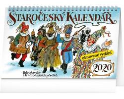 Stolní kalendář staročeský - reedice - Kamilaopová 2020 - slovenský