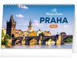 Stolní kalendář Praha - Miluju Prahu 2020