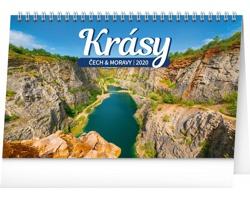 Stolní kalendář Krásy Čech a Moravy 2020