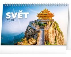 Stolní kalendář Svět 2020