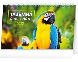 Stolní kalendář Tajemná říše zvířat 2020