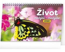 Stolní kalendář Život motýlů - motýlov 2020 - česko-slovenský