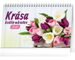 Stolní kalendář Krása květin - Krása kvetov 2020 - česko-slovenský