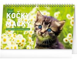Stolní kalendář Kočky - Mačky 2020 - česko-slovenský