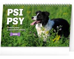 Stolní kalendář Psi - Psy 2020 - česko-slovenský