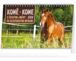 Stolní kalendář Koně - Kone 2020 - česko-slovenský