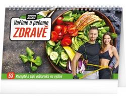 Stolní kalendář Vaříme a pečeme zdravě 2020