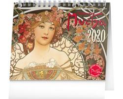 Stolní kalendář Alfons Mucha 2020 - 16 x 13 cm