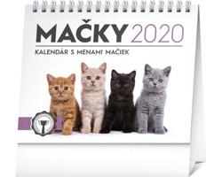 Stolní kalendář Mačky - s menami mačiek 2020 - slovenský