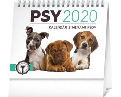 Stolní kalendář Psy - s menami psov 2020 - slovenský