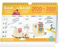 Stolní kalendář Školní plánovací s háčkem 2021