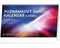 Stolní kalendář Poznámkový daňový s citáty 2021