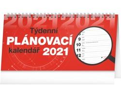 Stolní kalendář Plánovací řádkový 2021