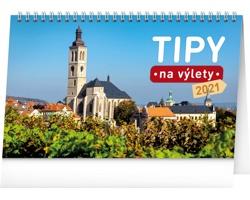 Stolní kalendář Tipy na výlety 2021
