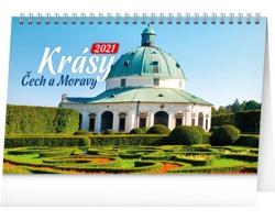 Stolní kalendář Krásy Čech a Moravy 2021