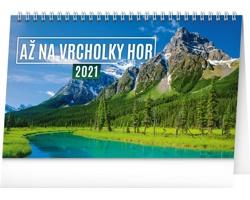 Stolní kalendář Až na vrcholky hor 2021