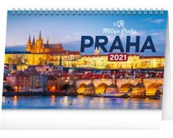 Stolní kalendář Praha - Miluju Prahu 2021
