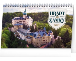 Stolní kalendář Hrady a zámky 2021