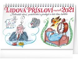 Stolní kalendář Lidová přísloví na rok 2021 - Kamila Skopová