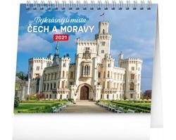 Stolní kalendář Nejkrásnější místa Čech a Moravy 2021